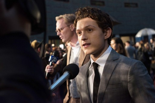 LONDON, ENGLAND - APRIL 08: Tom Holland attends the UK Fan Event to celebrate the release of Marvel Studios' 'Avengers: Infinity War' at The London Television Centre on April 8, 2018 in London, England. (Photo by Gareth Cattermole/Gareth Cattermole/Getty Images for Disney)
