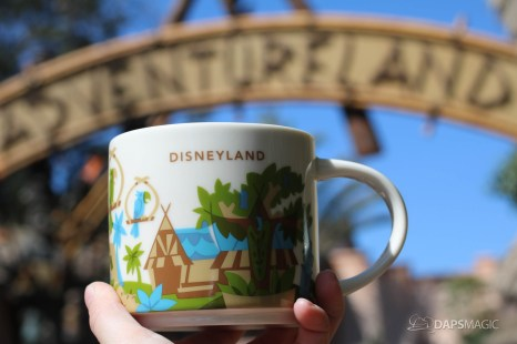 New You Are Here Mug Celebrating Adventureland Now at Disneyland's Market House (Starbucks)!