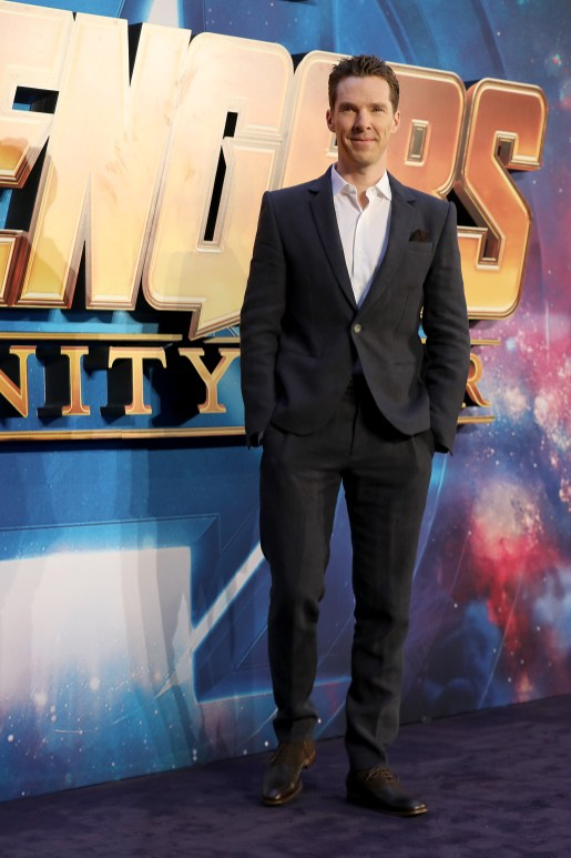 LONDON, ENGLAND - APRIL 08: Benedict Cumberbatch attends the UK Fan Event to celebrate the release of Marvel Studios' 'Avengers: Infinity War' at The London Television Centre on April 8, 2018 in London, England.