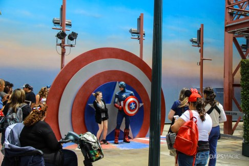 Captain America's New Meet and Greet Location - Disney California Adventure
