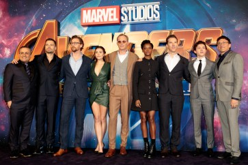 LONDON, ENGLAND - APRIL 08: The Cast attend the UK Fan Event to celebrate the release of Marvel Studios' 'Avengers: Infinity War' at The London Television Centre on April 8, 2018 in London, England.