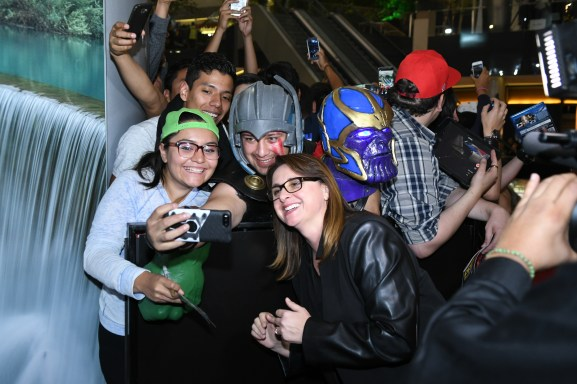Victoria Alonso (Executive Producer) attend the Avengers: Infinity War fan event in Mexico City.