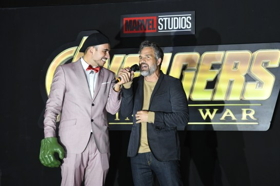 Mark Ruffalo (Bruce Banner/Hulk) attend the Avengers: Infinity War fan event in Mexico City.