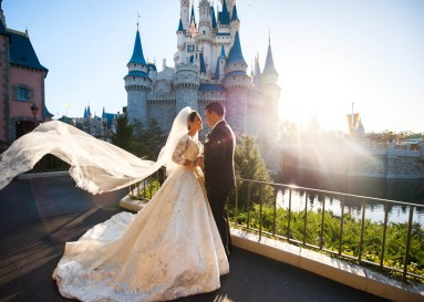 Fairy tales become reality at Walt Disney World Resort with Disney's Fairy Tale Weddings. From intimate occasions to grand affairs, Disney's Fairy Tale Weddings gives couples the opportunity to leave all the planning in expert hands to personally customize one of the most memorable experiences of a lifetime. Couples also have their choice of several unique wedding locations, including Disney's world-class theme parks, luxury resorts, or Disney's Fairy Tale Wedding Pavilion, adjacent to the luxurious Grand Floridian Resort & Spa on Seven Seas Lagoon in Lake Buena Vista, Fla. (Disney)