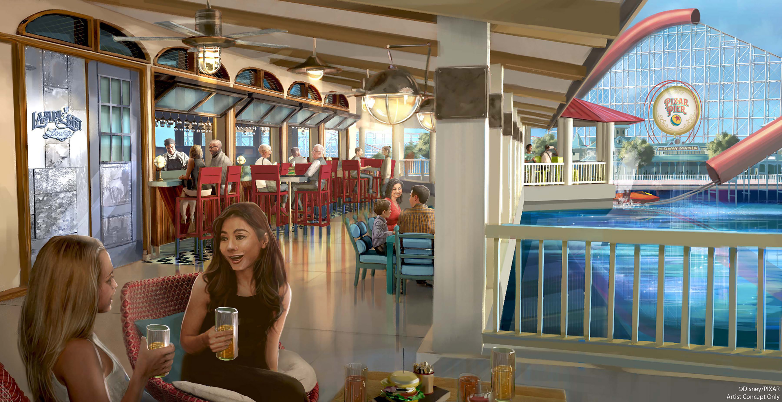 Lamplight Lounge Menu Released Ahead of Pixar Pier Opening at Disney California Adventure