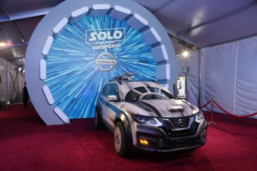 """A Custom Nissan Rogue displayed at the world premiere of """"Solo: A Star Wars Story"""" in Hollywood on May 10, 2018. (Photo: Alex J. Berliner/ABImages)"""