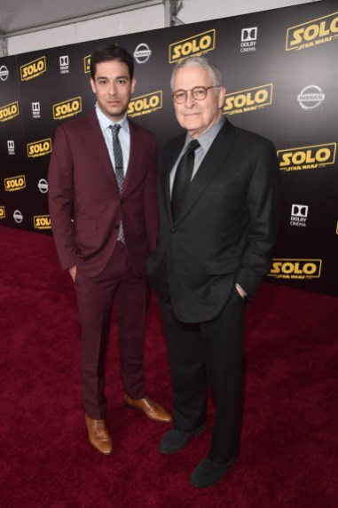 HOLLYWOOD, CA - MAY 10: Writers Jonathan Kasdan (L) and Lawrence Kasdan attend the world premiere of ìSolo: A Star Wars Storyî in Hollywood on May 10, 2018. (Photo by Alberto E. Rodriguez/Getty Images for Disney) *** Local Caption *** Lawrence Kasdan; Jonathan Kasdan
