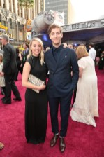 """Mollie Gates and Thomas Middleditch attend the world premiere of """"Solo: A Star Wars Story"""" in Hollywood on May 10, 2018. (Photo: Alex J. Berliner/ABImages)"""