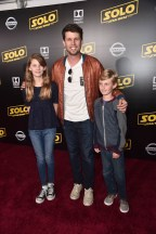 HOLLYWOOD, CA - MAY 10: Actor Jon Heder (C) attends the world premiere of ìSolo: A Star Wars Storyî in Hollywood on May 10, 2018. (Photo by Alberto E. Rodriguez/Getty Images for Disney) *** Local Caption *** Jon Heder