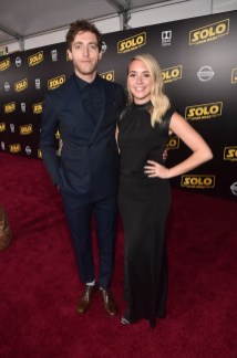HOLLYWOOD, CA - MAY 10: Thomas Middleditch (L) and Mollie Gates attend the world premiere of ìSolo: A Star Wars Storyî in Hollywood on May 10, 2018. (Photo by Alberto E. Rodriguez/Getty Images for Disney) *** Local Caption *** Thomas Middleditch; Mollie Gates