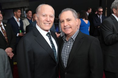 "Frank Marshall and Alan Bergman attend the world premiere of ""Solo: A Star Wars Story"" in Hollywood on May 10, 2018. (Photo: Alex J. Berliner/ABImages)"