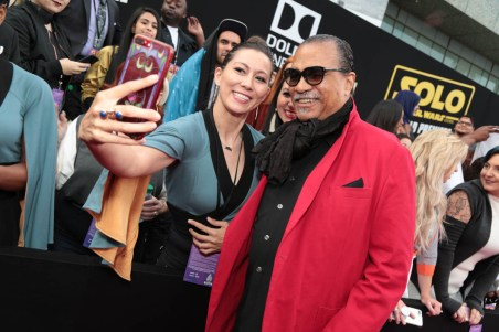"""Billy Dee Williams attends the world premiere of """"Solo: A Star Wars Story"""" in Hollywood on May 10, 2018. (Photo: Alex J. Berliner/ABImages)"""