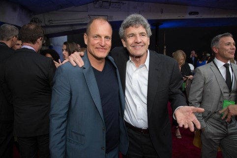 """Woody Harrelson and Alan Horn attend the world premiere of """"Solo: A Star Wars Story"""" in Hollywood on May 10, 2018..(Photo: Alex J. Berliner/ABImages)."""