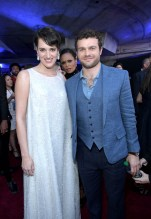 HOLLYWOOD, CA - MAY 10: Actors Phoebe Waller-Bridge (L) and Alden Ehrenreich attend the world premiere of ìSolo: A Star Wars Storyî in Hollywood on May 10, 2018. (Photo by Charley Gallay/Getty Images for Disney) *** Local Caption *** Phoebe Waller-Bridge; Alden Ehrenreich