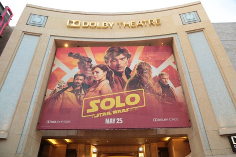 """A view of the Dolby Theater during the world premiere of """"Solo: A Star Wars Story"""" in Hollywood on May 10, 2018. (Photo: Alex J. Berliner/ABImages)"""