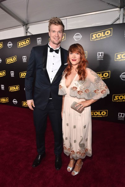 HOLLYWOOD, CA - MAY 10: Actor Joonas Suotamo (L) and Milla Pohjasvaara attend the world premiere of ìSolo: A Star Wars Storyî in Hollywood on May 10, 2018. (Photo by Alberto E. Rodriguez/Getty Images for Disney) *** Local Caption *** Milla Pohjasvaara; Joonas Suotamo