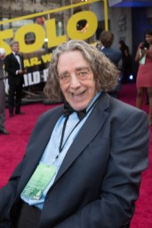 "Peter Mayhew attends the world premiere of ""Solo: A Star Wars Story"" in Hollywood on May 10, 2018..(Photo: Alex J. Berliner/ABImages)."
