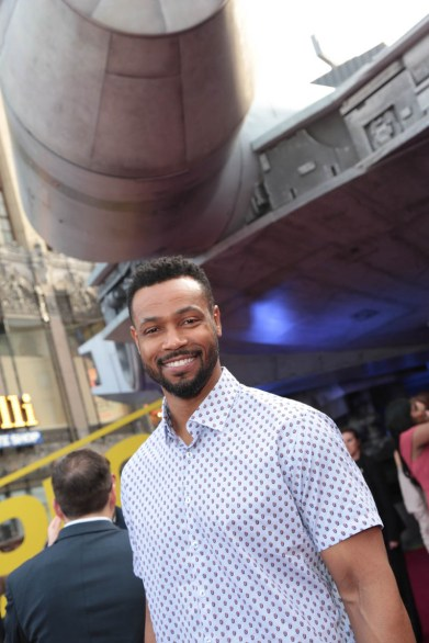 """Isaiah Mustafa attends the world premiere of """"Solo: A Star Wars Story"""" in Hollywood on May 10, 2018. (Photo: Alex J. Berliner/ABImages)"""