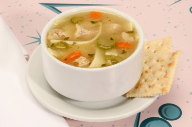 Checkered Flag Chicken Noodle Soup