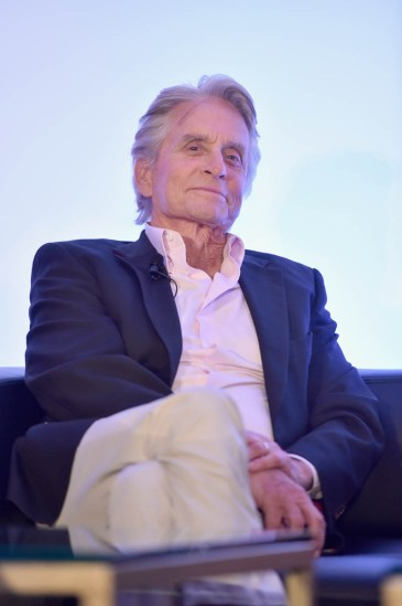 """LOS ANGELES, CA - JUNE 24: Michael Douglas speaks onstage at Marvel Studios' """"Ant-Man And The Wasp"""" Global Junket Press Conference on June 24, 2018 in Los Angeles, United States. (Photo by Alberto E. Rodriguez/Getty Images for Disney) *** Local Caption *** Michael Douglas"""