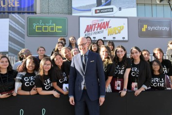 """HOLLYWOOD, CA - JUNE 25: Director Peyton Reed and Girls Who Code attend the Los Angeles Global Premiere for Marvel Studios' """"Ant-Man And The Wasp"""" at the El Capitan Theatre on June 25, 2018 in Hollywood, California. (Photo by Charley Gallay/Getty Images for Disney) *** Local Caption *** Peyton Reed"""