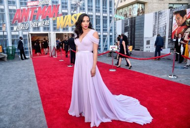 "HOLLYWOOD, CA - JUNE 25: Actor Hannah John-Kamen attends the Los Angeles Global Premiere for Marvel Studios' ""Ant-Man And The Wasp"" at the El Capitan Theatre on June 25, 2018 in Hollywood, California. (Photo by Alberto E. Rodriguez/Getty Images for Disney) *** Local Caption *** Hannah John-Kamen"