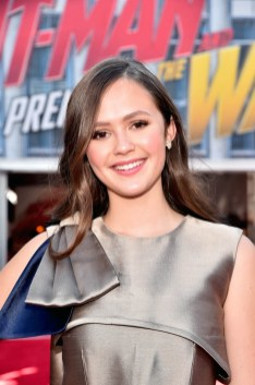 """HOLLYWOOD, CA - JUNE 25: Olivia Sanabia attends the Los Angeles Global Premiere for Marvel Studios' """"Ant-Man And The Wasp"""" at the El Capitan Theatre on June 25, 2018 in Hollywood, California. (Photo by Alberto E. Rodriguez/Getty Images for Disney) *** Local Caption *** Olivia Sanabia"""