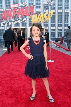 """HOLLYWOOD, CA - JUNE 25: Madeleine McGraw attends the Los Angeles Global Premiere for Marvel Studios' """"Ant-Man And The Wasp"""" at the El Capitan Theatre on June 25, 2018 in Hollywood, California. (Photo by Alberto E. Rodriguez/Getty Images for Disney) *** Local Caption *** Madeleine McGraw"""