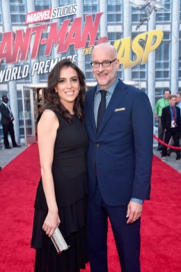 """HOLLYWOOD, CA - JUNE 25: Director Peyton Reed (R) and guest attend the Los Angeles Global Premiere for Marvel Studios' """"Ant-Man And The Wasp"""" at the El Capitan Theatre on June 25, 2018 in Hollywood, California. (Photo by Alberto E. Rodriguez/Getty Images for Disney) *** Local Caption *** Peyton Reed"""