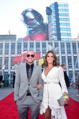 """HOLLYWOOD, CA - JUNE 25: Collie Buddz (L) and Zarah DeSilva attend the Los Angeles Global Premiere for Marvel Studios' """"Ant-Man And The Wasp"""" at the El Capitan Theatre on June 25, 2018 in Hollywood, California. (Photo by Alberto E. Rodriguez/Getty Images for Disney) *** Local Caption *** Collie Buddz; Zarah DeSilva"""