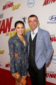 """HOLLYWOOD, CA - JUNE 25: Shaun Toub (R) and Lorena Toub attend the Los Angeles Global Premiere for Marvel Studios' """"Ant-Man And The Wasp"""" at the El Capitan Theatre on June 25, 2018 in Hollywood, California. (Photo by Jesse Grant/Getty Images for Disney) *** Local Caption *** Shaun Toub; Lorena Toub"""