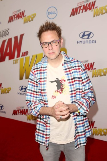 """HOLLYWOOD, CA - JUNE 25: James Gunn attends the Los Angeles Global Premiere for Marvel Studios' """"Ant-Man And The Wasp"""" at the El Capitan Theatre on June 25, 2018 in Hollywood, California. (Photo by Jesse Grant/Getty Images for Disney) *** Local Caption *** James Gunn"""