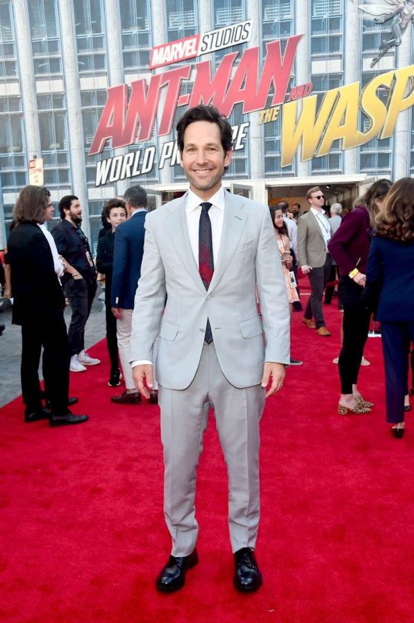 """HOLLYWOOD, CA - JUNE 25: Actor Paul Rudd attends the Los Angeles Global Premiere for Marvel Studios' """"Ant-Man And The Wasp"""" at the El Capitan Theatre on June 25, 2018 in Hollywood, California. (Photo by Alberto E. Rodriguez/Getty Images for Disney) *** Local Caption *** Paul Rudd"""