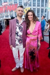 "HOLLYWOOD, CA - JUNE 25: Sean Gunn (L) and Natasha Halevi attend the Los Angeles Global Premiere for Marvel Studios' ""Ant-Man And The Wasp"" at the El Capitan Theatre on June 25, 2018 in Hollywood, California. (Photo by Alberto E. Rodriguez/Getty Images for Disney) *** Local Caption *** Natasha Halevi; Sean Gunn"