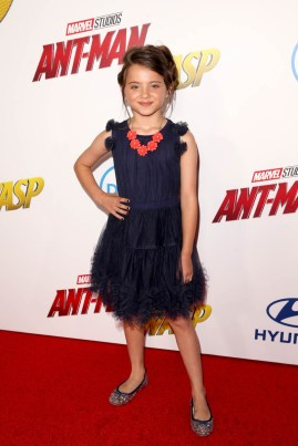 "HOLLYWOOD, CA - JUNE 25: Madeleine McGraw attends the Los Angeles Global Premiere for Marvel Studios' ""Ant-Man And The Wasp"" at the El Capitan Theatre on June 25, 2018 in Hollywood, California. (Photo by Jesse Grant/Getty Images for Disney) *** Local Caption *** Madeleine McGraw"