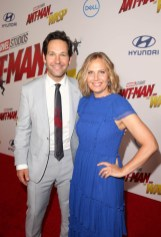 """HOLLYWOOD, CA - JUNE 25: Actor Paul Rudd (L) and producer Julie Yaeger attend the Los Angeles Global Premiere for Marvel Studios' """"Ant-Man And The Wasp"""" at the El Capitan Theatre on June 25, 2018 in Hollywood, California. (Photo by Jesse Grant/Getty Images for Disney) *** Local Caption *** Paul Rudd; Julie Yaeger"""