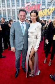 """HOLLYWOOD, CA - JUNE 25: Executive producer Louis D'Esposito (L) and actor Evangeline Lilly attend the Los Angeles Global Premiere for Marvel Studios' """"Ant-Man And The Wasp"""" at the El Capitan Theatre on June 25, 2018 in Hollywood, California. (Photo by Alberto E. Rodriguez/Getty Images for Disney) *** Local Caption *** Louis D'Esposito; Evangeline Lilly"""