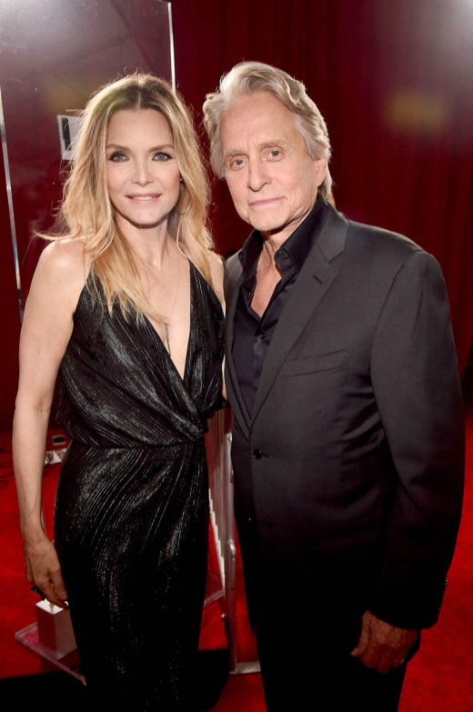 "HOLLYWOOD, CA - JUNE 25: Actors Michelle Pfeiffer (L) and Michael Douglas attend the Los Angeles Global Premiere for Marvel Studios' ""Ant-Man And The Wasp"" at the El Capitan Theatre on June 25, 2018 in Hollywood, California. (Photo by Alberto E. Rodriguez/Getty Images for Disney) *** Local Caption *** Michelle Pfeiffer; Michael Douglas"