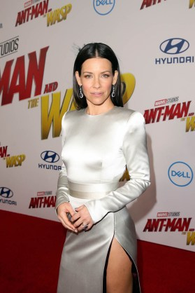 """HOLLYWOOD, CA - JUNE 25: Actor Evangeline Lilly attends the Los Angeles Global Premiere for Marvel Studios' """"Ant-Man And The Wasp"""" at the El Capitan Theatre on June 25, 2018 in Hollywood, California. (Photo by Jesse Grant/Getty Images for Disney) *** Local Caption *** Evangeline Lilly"""
