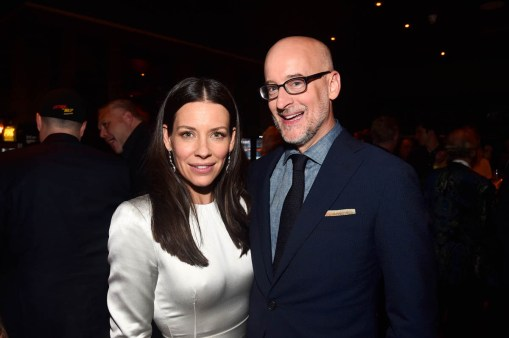 """HOLLYWOOD, CA - JUNE 25: Actor Evangeline Lilly (L) and Director Peyton Reed attend the Los Angeles Global Premiere for Marvel Studios' """"Ant-Man And The Wasp"""" at the El Capitan Theatre on June 25, 2018 in Hollywood, California. (Photo by Alberto E. Rodriguez/Getty Images for Disney) *** Local Caption *** Evangeline Lilly; Peyton Reed"""