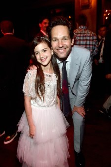 """HOLLYWOOD, CA - JUNE 25: Actors Abby Ryder Fortson (L) and Paul Rudd attend the Los Angeles Global Premiere for Marvel Studios' """"Ant-Man And The Wasp"""" at the El Capitan Theatre on June 25, 2018 in Hollywood, California. (Photo by Alberto E. Rodriguez/Getty Images for Disney) *** Local Caption *** Abby Ryder Fortson; Paul Rudd"""