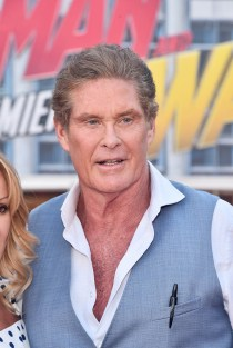 "HOLLYWOOD, CA - JUNE 25: David Hasselhoff attends the Los Angeles Global Premiere for Marvel Studios' ""Ant-Man And The Wasp"" at the El Capitan Theatre on June 25, 2018 in Hollywood, California. (Photo by Alberto E. Rodriguez/Getty Images for Disney) *** Local Caption *** David Hasselhoff"