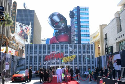 """HOLLYWOOD, CA - JUNE 25: A view of the atmosphere at the Los Angeles Global Premiere for Marvel Studios' """"Ant-Man And The Wasp"""" at the El Capitan Theatre on June 25, 2018 in Hollywood, California. (Photo by Charley Gallay/Getty Images for Disney)"""
