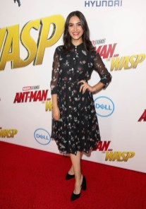 "HOLLYWOOD, CA - JUNE 25: Nikohl Boosheri attends the Los Angeles Global Premiere for Marvel Studios' ""Ant-Man And The Wasp"" at the El Capitan Theatre on June 25, 2018 in Hollywood, California. (Photo by Jesse Grant/Getty Images for Disney) *** Local Caption *** Nikohl Boosheri"