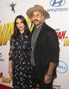 "HOLLYWOOD, CA - JUNE 25: Nikohl Boosheri (L) and Wild the Coyote attend the Los Angeles Global Premiere for Marvel Studios' ""Ant-Man And The Wasp"" at the El Capitan Theatre on June 25, 2018 in Hollywood, California. (Photo by Jesse Grant/Getty Images for Disney) *** Local Caption *** Nikohl Boosheri; Wild the Coyote"