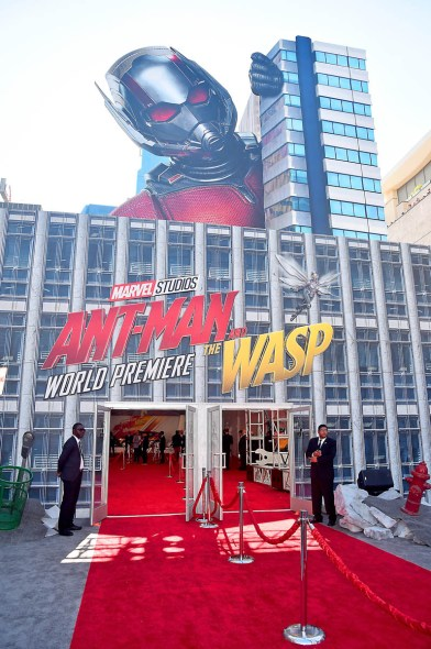 """HOLLYWOOD, CA - JUNE 25: A view of the atmosphere at the Los Angeles Global Premiere for Marvel Studios' """"Ant-Man And The Wasp"""" at the El Capitan Theatre on June 25, 2018 in Hollywood, California. (Photo by Alberto E. Rodriguez/Getty Images for Disney)"""