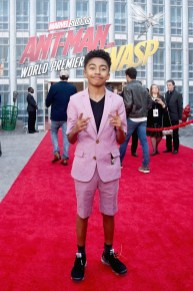 """HOLLYWOOD, CA - JUNE 25: Miles Brown attends the Los Angeles Global Premiere for Marvel Studios' """"Ant-Man And The Wasp"""" at the El Capitan Theatre on June 25, 2018 in Hollywood, California. (Photo by Alberto E. Rodriguez/Getty Images for Disney) *** Local Caption *** Miles Brown"""