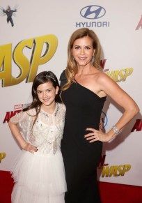 """HOLLYWOOD, CA - JUNE 25: Actor Abby Ryder Fortson (L) and Christie Lynn Smith attend the Los Angeles Global Premiere for Marvel Studios' """"Ant-Man And The Wasp"""" at the El Capitan Theatre on June 25, 2018 in Hollywood, California. (Photo by Jesse Grant/Getty Images for Disney) *** Local Caption *** Christie Lynn Smith; Abby Ryder Fortson"""