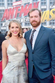 """HOLLYWOOD, CA - JUNE 25: Producer Stephen Broussard (R) and guest attend the Los Angeles Global Premiere for Marvel Studios' """"Ant-Man And The Wasp"""" at the El Capitan Theatre on June 25, 2018 in Hollywood, California. (Photo by Alberto E. Rodriguez/Getty Images for Disney) *** Local Caption *** Stephen Broussard"""