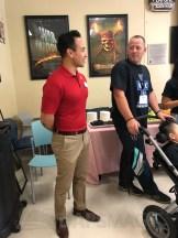 Disneyland ambassador Mikey Trujillo meets the 2018 CHOC Walk ambassadors